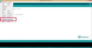 نصب هسته ESP8266 از بخش preferences آردوینو - دیجی اسپارک