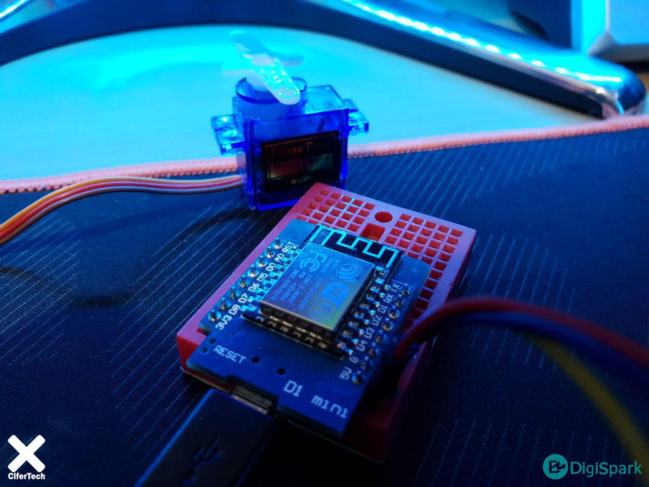 پروژه کنترل سرو موتور با ژایرو ESP-Now - دیجی اسپارک