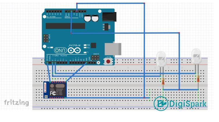 شماتیک پروژه کنترل ترافیک هوشمند با آردوینو - دیجی اسپارک