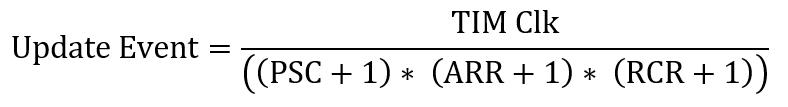 Stm32 timer formula