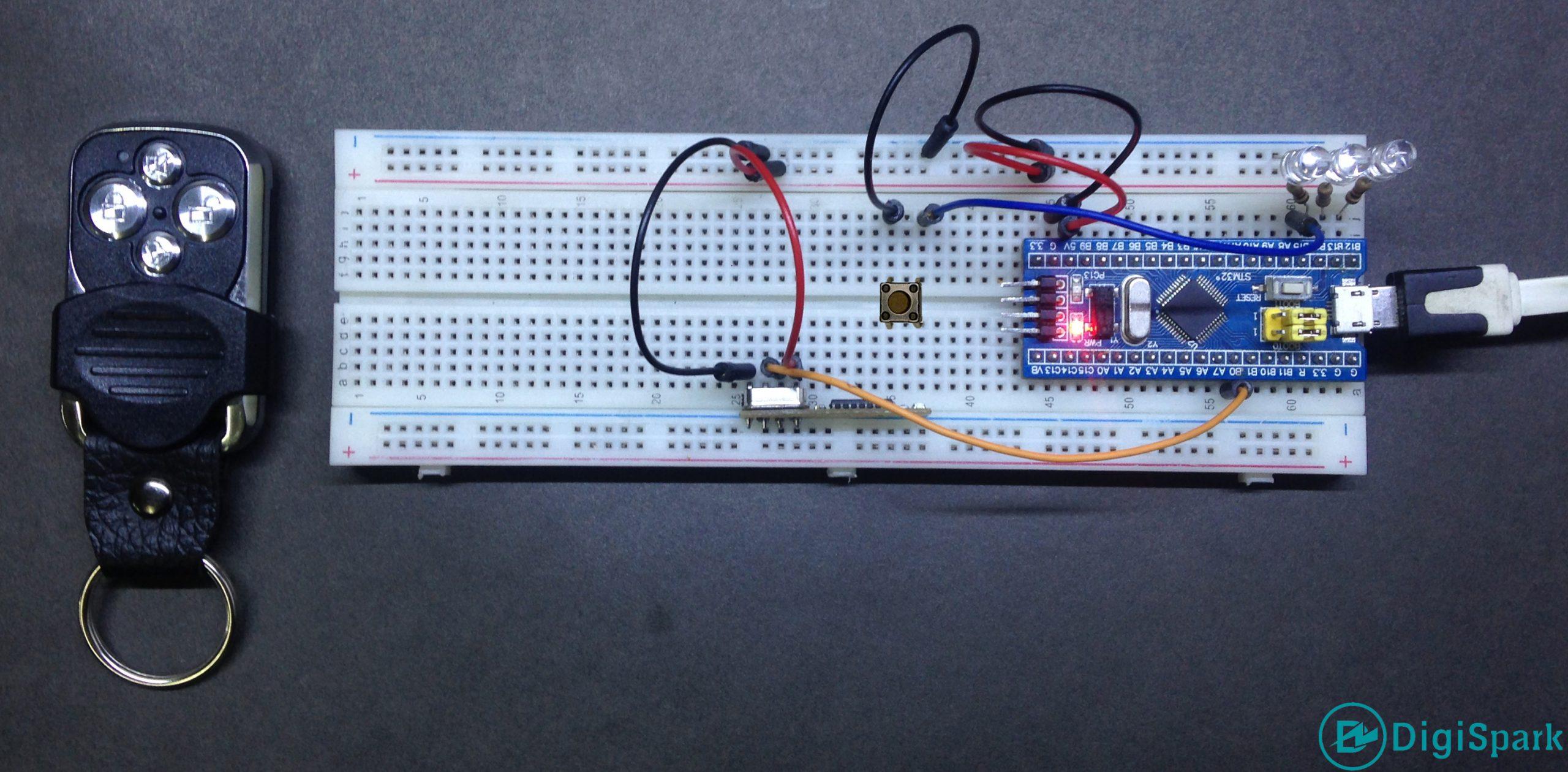 پروژه مدار گیرنده کد لرن ASK با برد STM32 - دیجی اسپارک