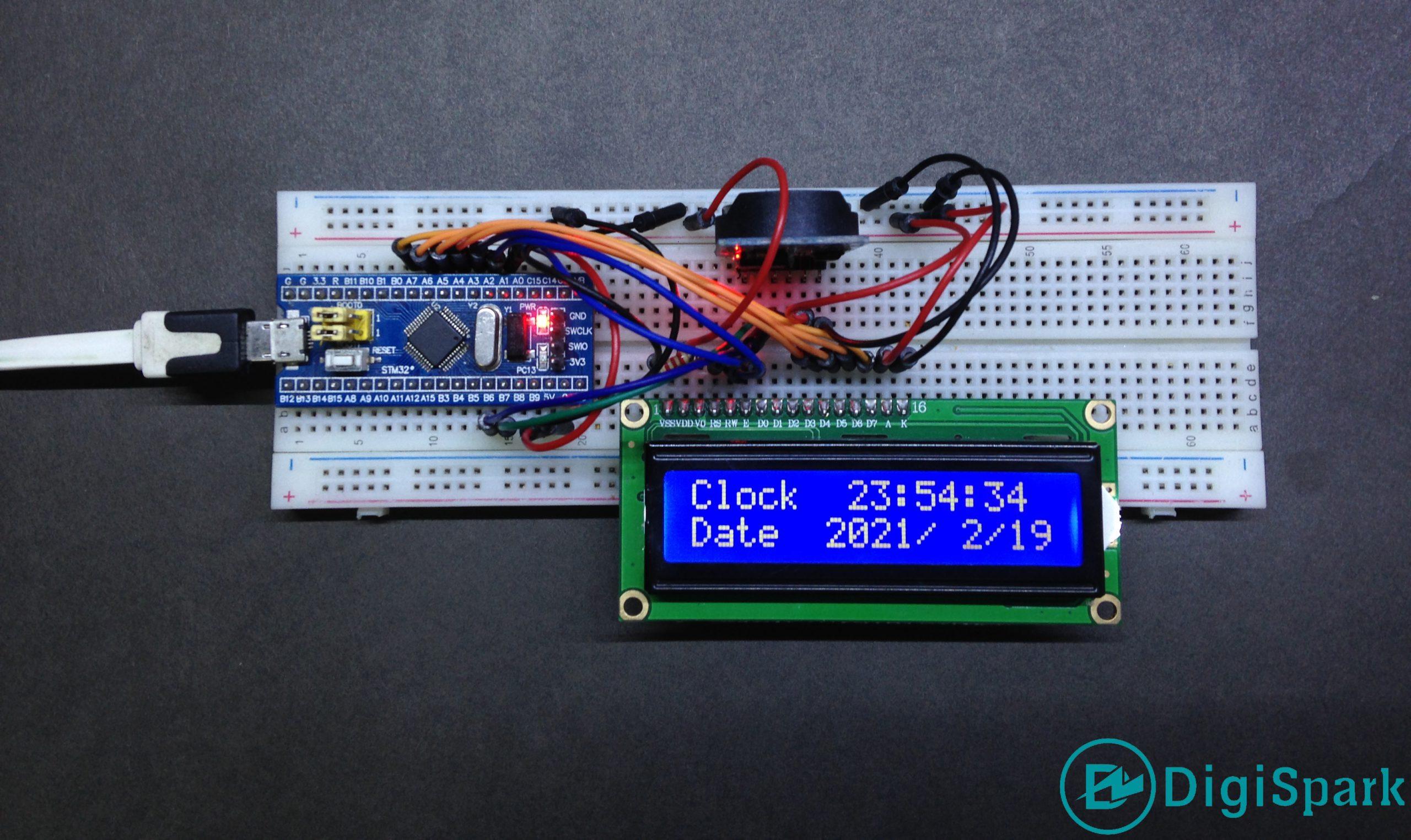پروژه ماژول ساعت DS3231 به STM32 - دیجی اسپارک