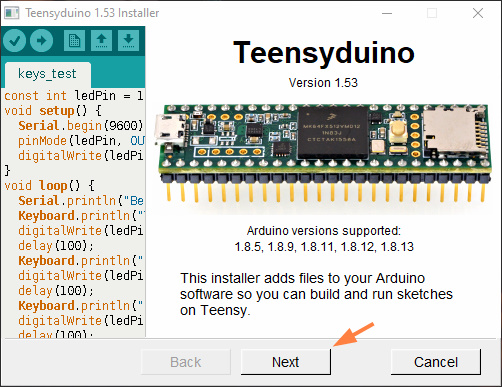 نصب افزونه Teensyduino در پروژه موس با تینسی - دیجی اسپارک