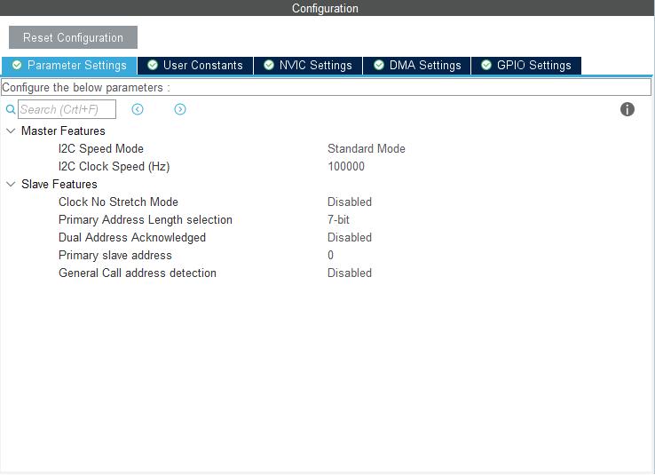 پیکربندی I2c در نرمافزار STM32Cube - دیجی اسپارک