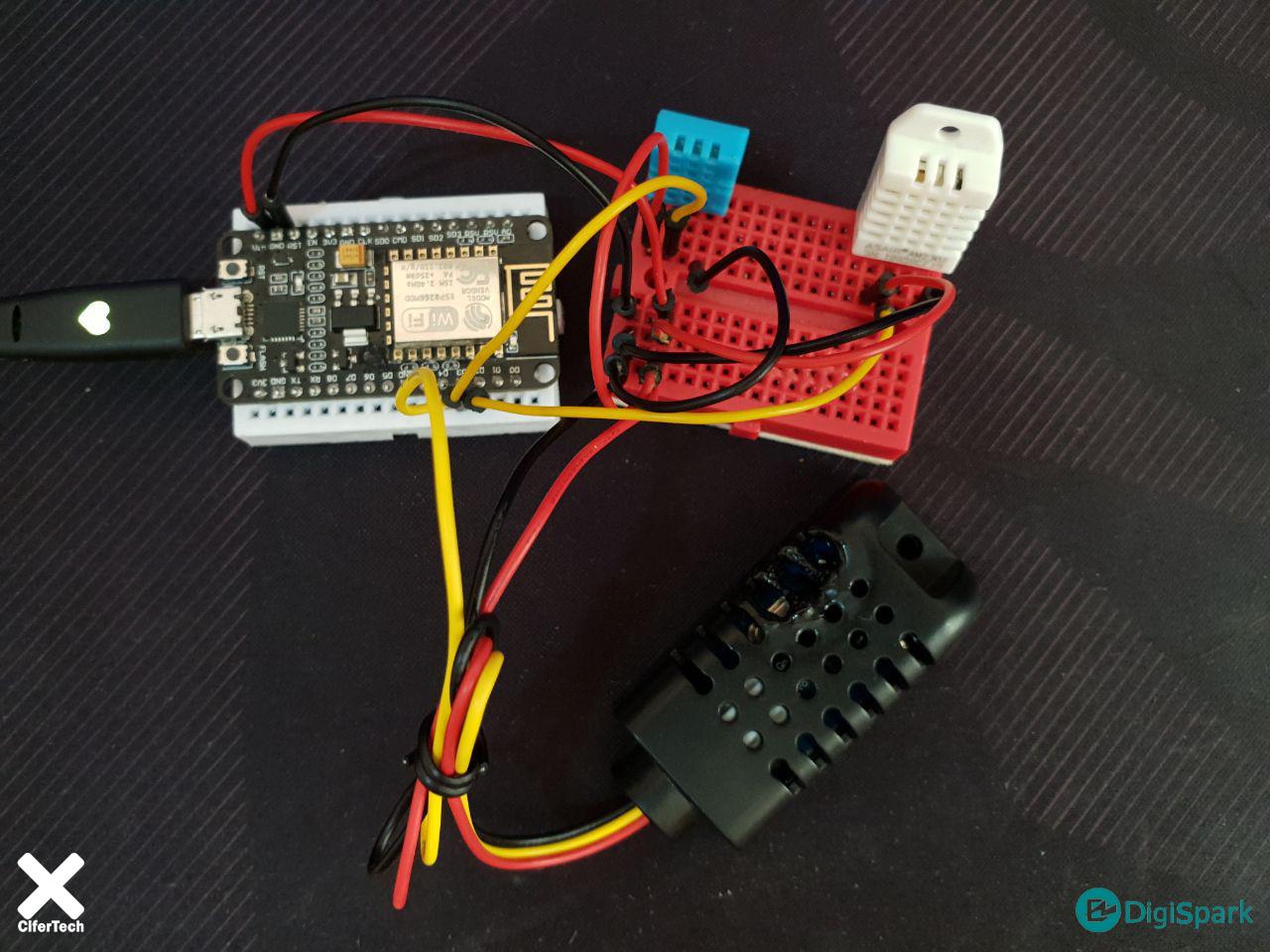 اتصال چندین سنسور DHT به برد Nodemcu - دیجی اسپارک