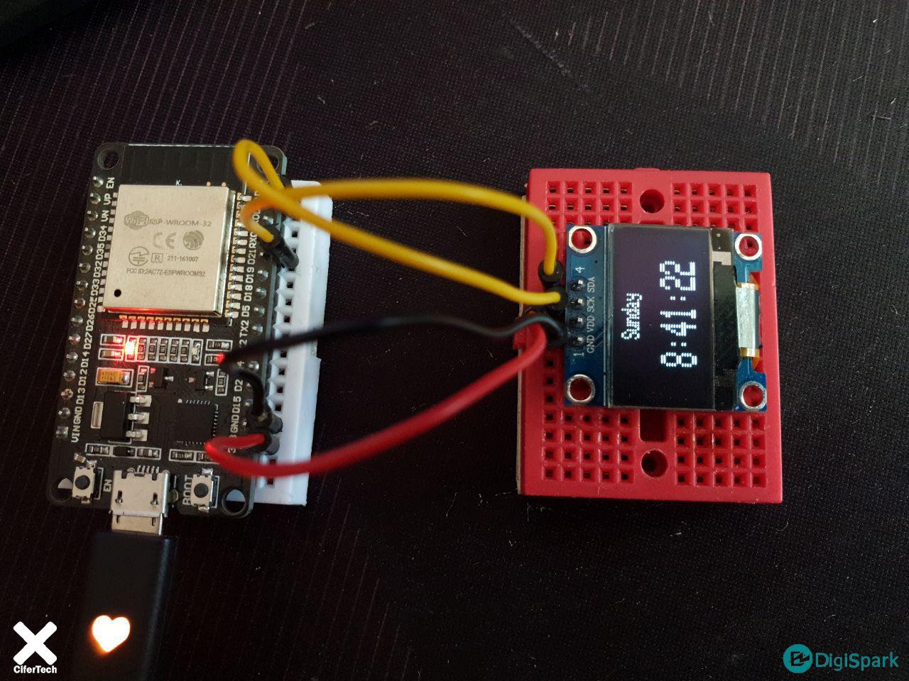 پروژه ساعت دیجیتال NTP با ESP32 و OLED - دیجی اسپارک
