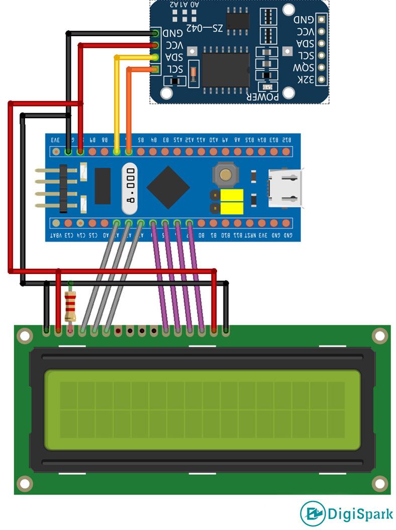 اتصالات DS3231 به STM32 - دیجی اسپارک