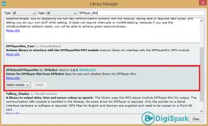 نصب کتابخانه df player با کنترل ریموت مادون قرمز - دیجی اسپارک