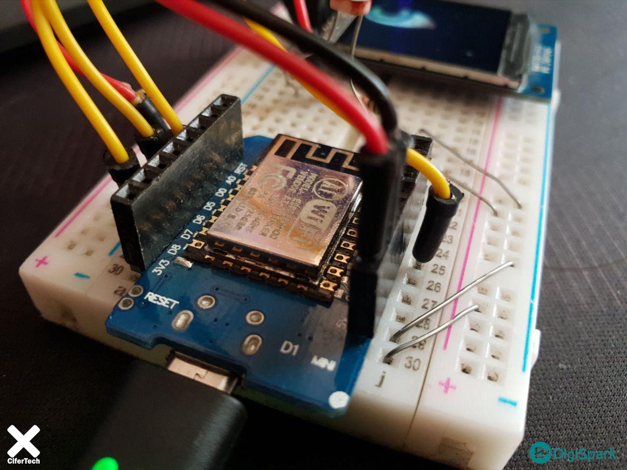 نمایش انیمیشن چشم انسان در LCD های TFT+ st7789 + wemos