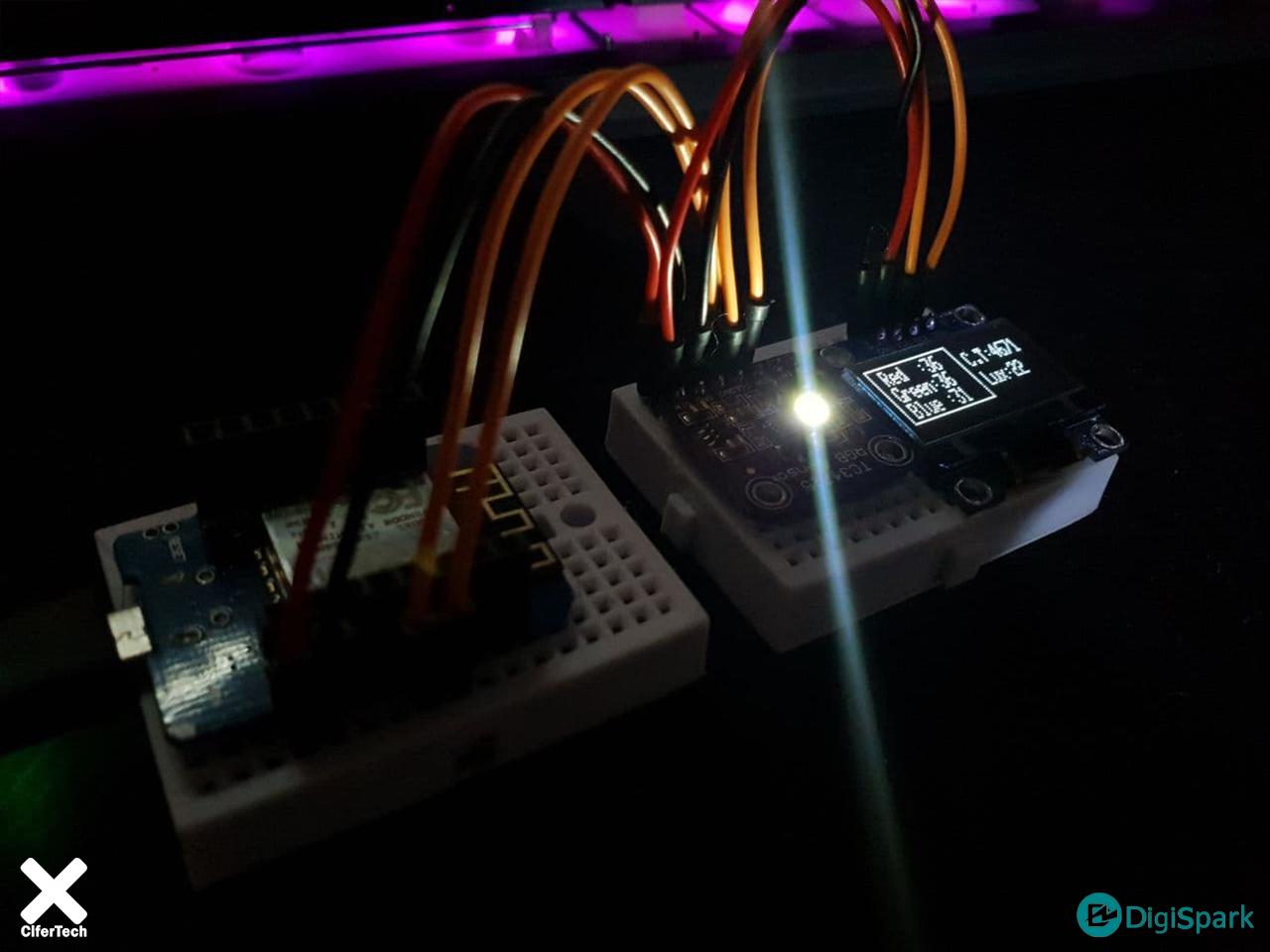 راه اندازی سنسور تشخیص رنگ TC34725 با آردوینو - دیجی اسپارک