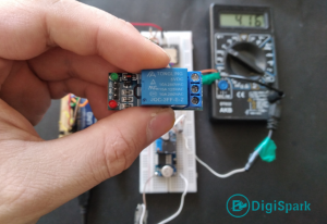 Activation of relays via DTMF call with voice report