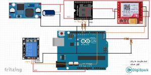 پروژه کنترل وسایل برقی با DTMF و ماژول جی اس ام Sim800L - دیجی اسپارک