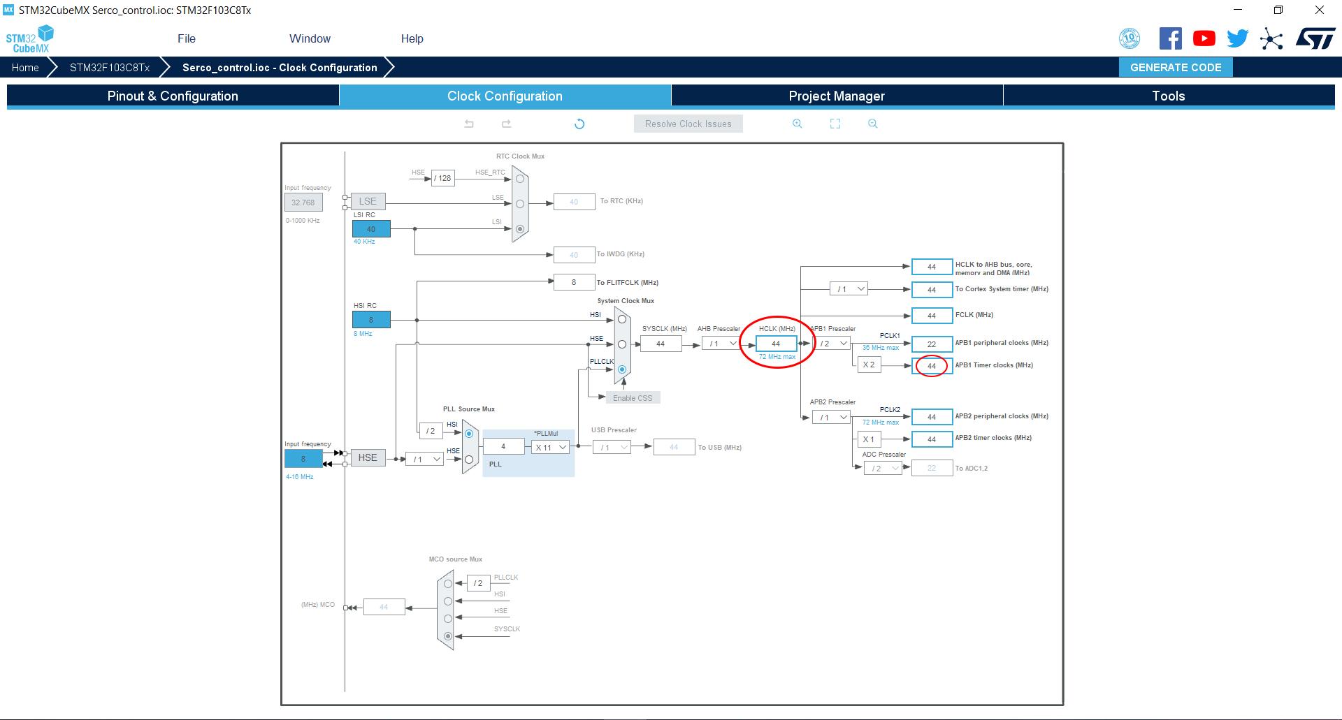 تنظیمات نرم افزار STM32 برای راه اندازی سرو با STM32 - دیجی اسپارک