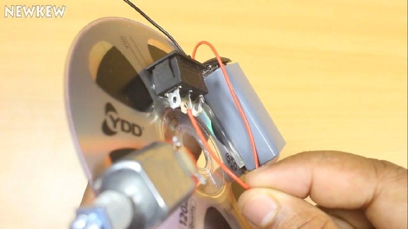 اتصالات تغذیه مدار ربات شیطونک با موتور آرمیچر و CD - دیجی اسپارک