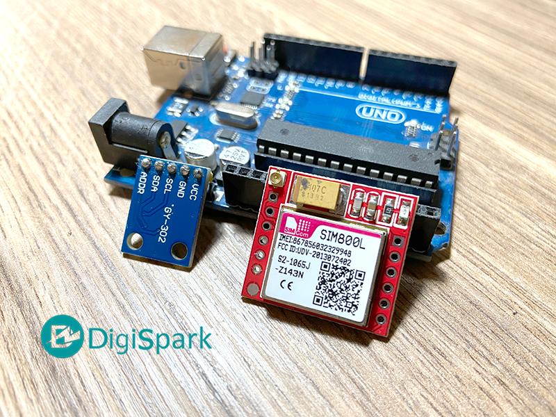 برد آردوینو ماژول سیم کارت Sim800L و ارسال اطلاعات به پلتفرم IoT - دیجی اسپارک