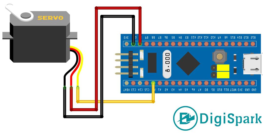شماتیک راه اندازی سرو با STM32 - دیجی اسپارک