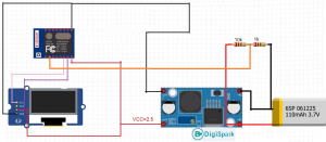 Monitor and display the battery charge on the ESP8266-12E board