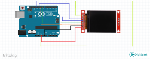 Set up and work with TFT LCD monitor with ST7735 driver