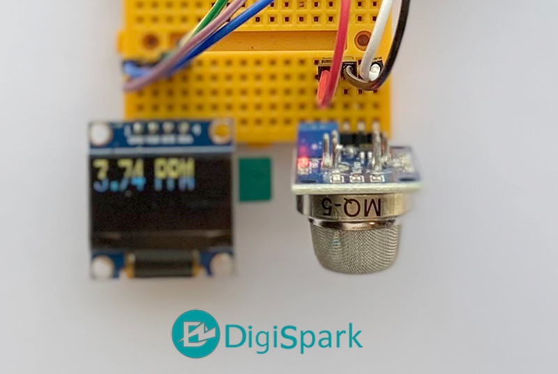 سنسور گاز MQ5 تشخیص گاز شهری - دیجی اسپارک