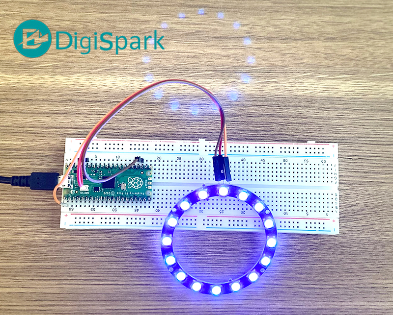 اتصال LED نئوپیکسل به رزبری پای پیکو pico رقص نور - دیجی اسپارک