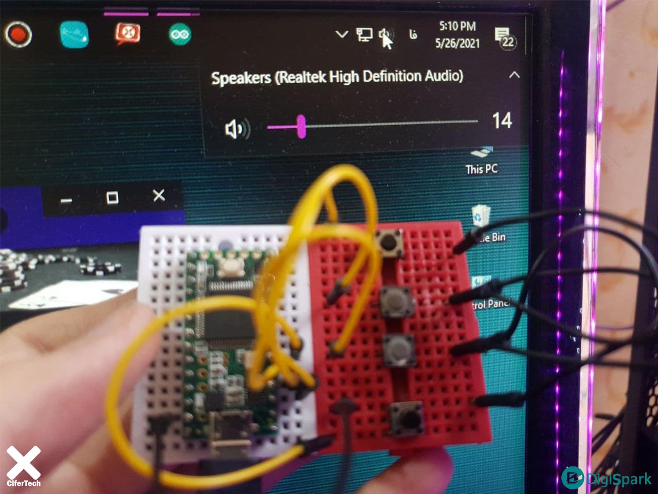دستگاه مدیا کنترلر با برد Teensy 3.2 - دیجی اسپارک
