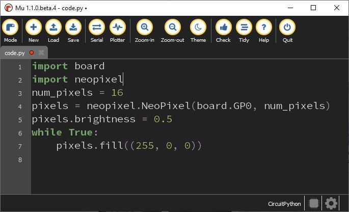 برنامه نویسی LED Neopixel با پایتون - دیجی اسپارک