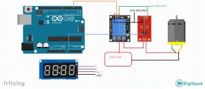 شماتیک پروژه ساخت آمپر متر با آردوینو سنسور acs712 - دیجی اسپارک