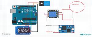 شماتیک و اتصالات پروژه رطوبت سنج هوشمند با آردوینو - دیجی اسپارک