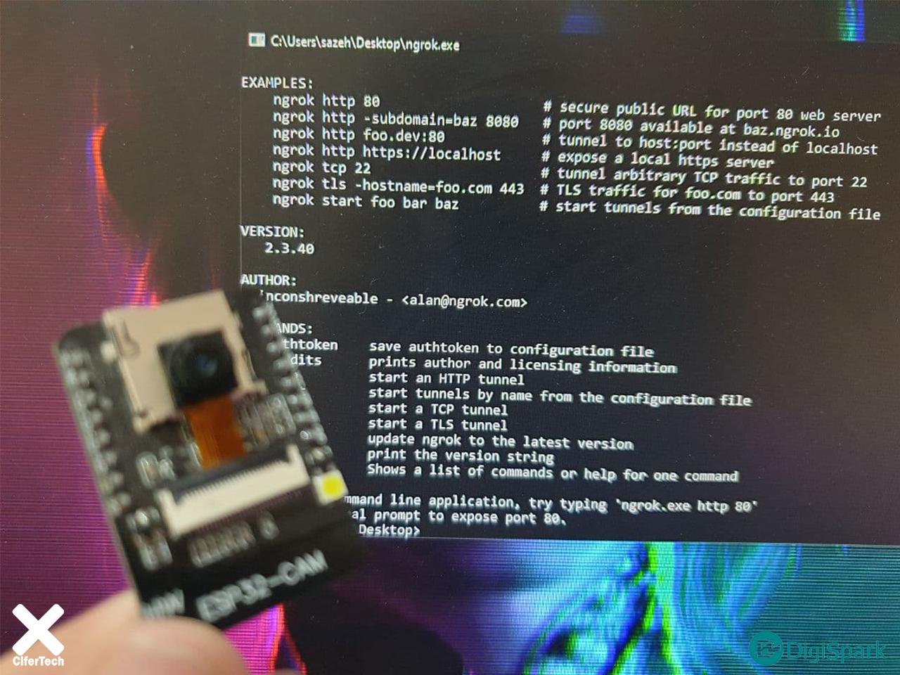 پروژه دوربین امنیتی Cloud با برد ESP32 - دیجی اسپارک