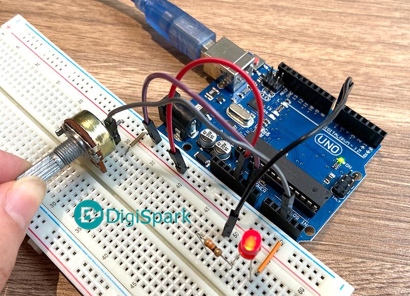 اتصال پروژه PWM با آردوینو - دیجی اسپارک