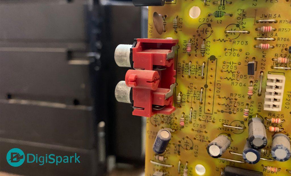ورودی استریو آمپلی فایر ضبط صوت قدیمی - دیجی اسپارک