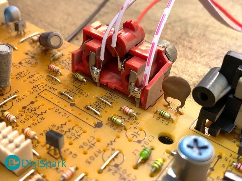 اتصال ماژول MP3 پنل به ورودی RCA ضبط صوت - دیجی اسپارک