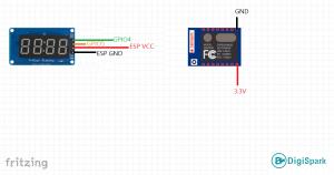 شماتیک پروژه ارسال دما با بردهای ESP8266 - دیجی اسپارک