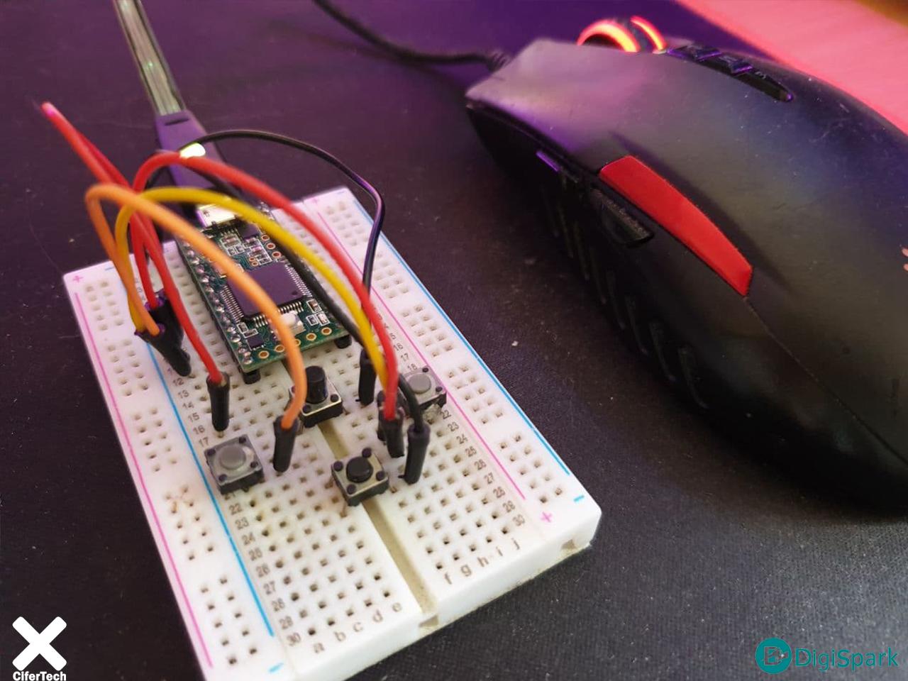 پروژه ساخت موس با برد تینسی 3.2 - دیجی اسپارک