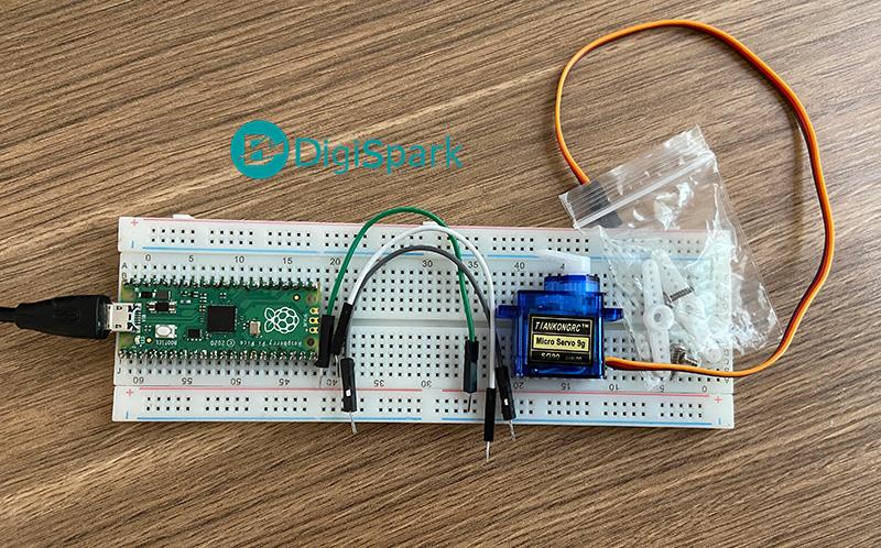 پروژه سرو موتور با رزبری پای پیکو pico - دیجی اسپارک