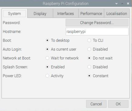 تنظیم System در سیستم عامل رسپبری پای - دیجی اسپارک