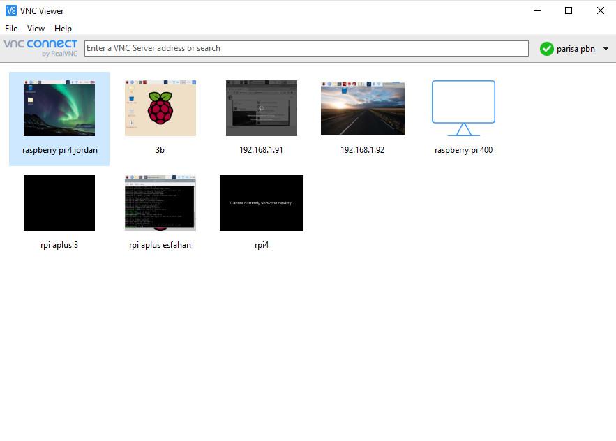 نصب VNC برای رزبری پای - دیجی اسپارک
