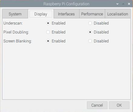 تنظمیات Display سیستم عامل رزبری پای - دیجی اسپارک