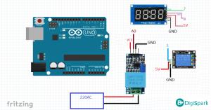 پروژه ولت متر دیجیتال و محافظ برق با ZMPT101B آردوینو - دیجی اسپارک
